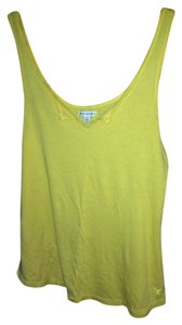 American Eagle Outfitters Split Neck Top Yellow