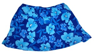 Aeropostale Flower Flowy Mini Skirt Blue