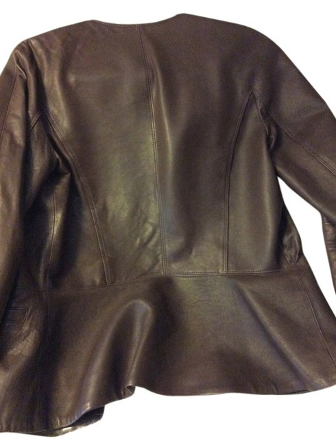 Preload https://item1.tradesy.com/images/theory-dark-brown-front-zip-waist-with-2-front-leather-jacket-size-8-m-10413340-0-1.jpg?width=400&height=650