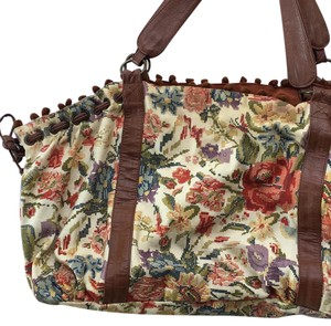 Anthropologie Floral Purse Slouchy Tote