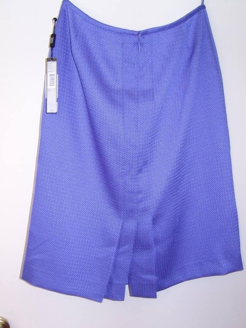 Tahari Office Casual Skirt Blue Purple Lilac