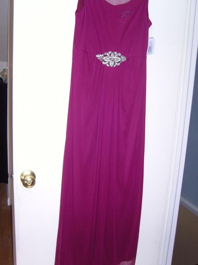 Alex Evenings Sangria Polyester Gown Formal Bridesmaid/Mob Dress Size Petite 8 (M)