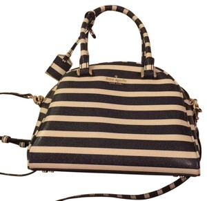 Kate Spade Satchel in Navy and Ivory Striped