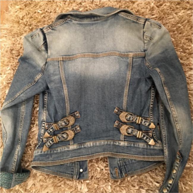Roberto Cavalli Light denim Womens Jean Jacket