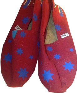 TOMS Red/blue Flats
