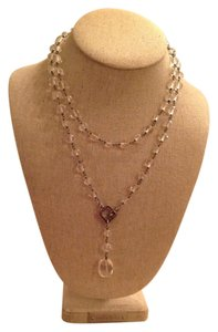Silpada Silpada 925 Sterling Silver & Glass Lariat Necklace - Retired Item.