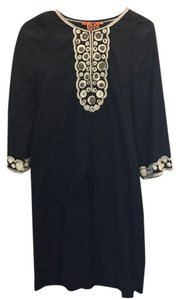 Tory Burch short dress Navy Embroidered Applique on Tradesy