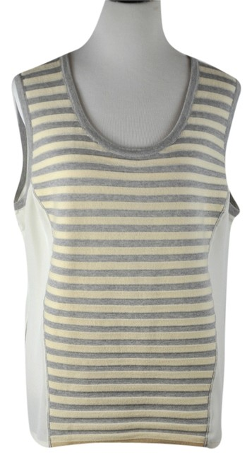 Preload https://img-static.tradesy.com/item/10415074/st-john-beige-stripe-wool-blend-and-silk-camisole-tank-topcami-size-16-xl-plus-0x-0-1-650-650.jpg