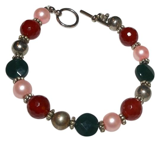 Preload https://img-static.tradesy.com/item/10415398/dark-orange-green-pink-silver-handmade-emerald-carnelian-stone-and-pearl-a067-bracelet-0-1-540-540.jpg