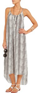 Grey Lizzard Maxi Dress by Melissa Odabash