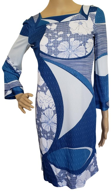 Preload https://item5.tradesy.com/images/emilio-pucci-blue-white-multicolor-monogram-print-mid-length-cocktail-dress-size-2-xs-10415449-0-3.jpg?width=400&height=650