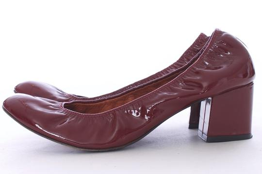 Lanvin Leather Elastic Stretchy Italian Chunky Red Pumps