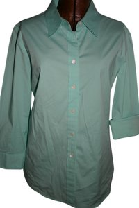 J.Crew Button Down Shirt turquoise green