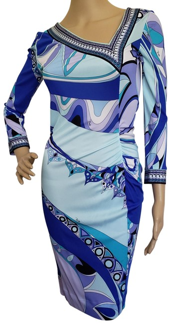 Preload https://img-static.tradesy.com/item/10415551/emilio-pucci-blue-white-purple-multicolor-monogram-print-long-sleeve-mid-length-cocktail-dress-size-0-3-650-650.jpg
