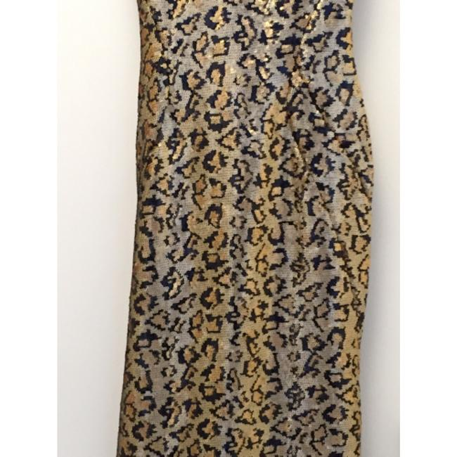 Zac Posen Sequins Animal Print Rare Dress
