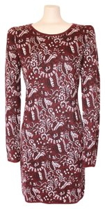 Matty M short dress BURGUNDY Print 8 Winter on Tradesy