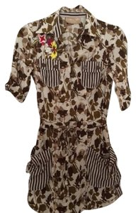 Buffalo David Bitton short dress Multi Brown Daytime Short Brown Print on Tradesy