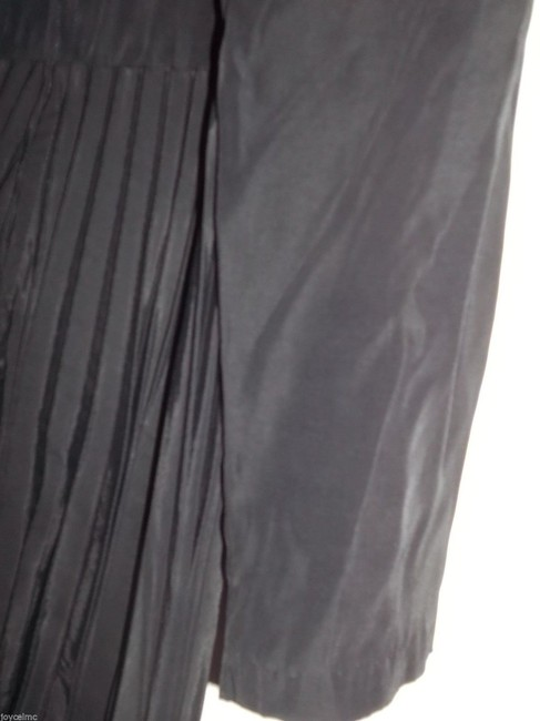 Units Dressy Rayon Black Pantsuit by Unit, Sz S, Pleated Top & Long Sleeves