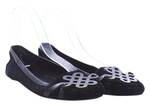 Diane von Furstenberg Suede Leather Black Flats