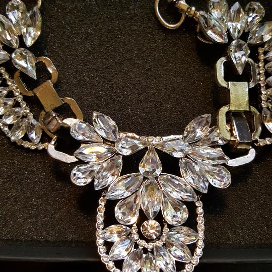 Other Crystal Art Deco Silvertone Statement Necklace 16
