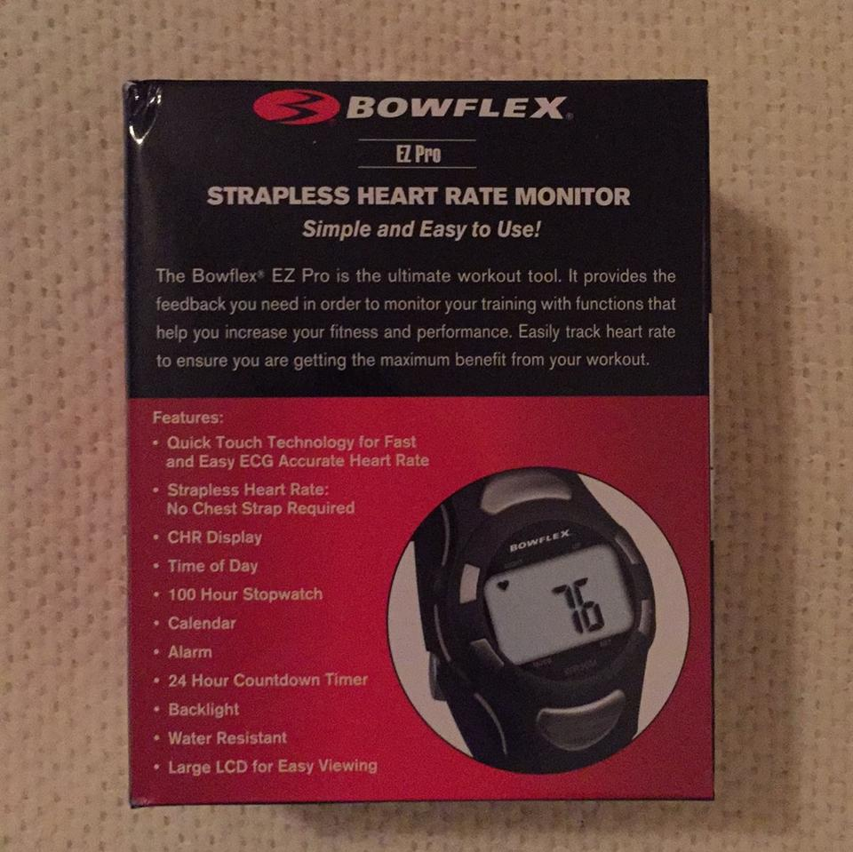 Bowflex Blac Strapless Heart Rate Monitor Watch 72% off retail