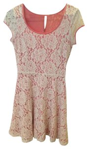 LC Lauren Conrad short dress Pink Lace Short Sundress on Tradesy