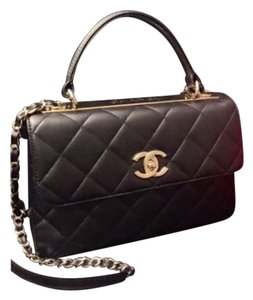 Chanel Cc Trendy Flap Quilted Lambskin Gold Hardware Top Crossbody Nwt Shoulder Bag