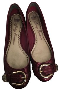 Juicy Couture Burgundy Patent Leather Patent Burgundy Flats