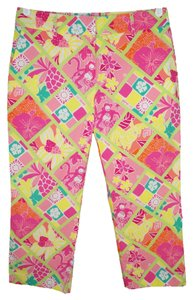 Lilly Pulitzer Patchwork Monkey Capri/Cropped Pants
