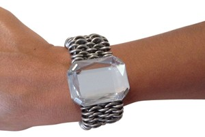 K & K Statement bracelet! Chain bracelet with large clear stone