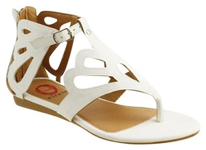 Red Circle Footwear White Sandals