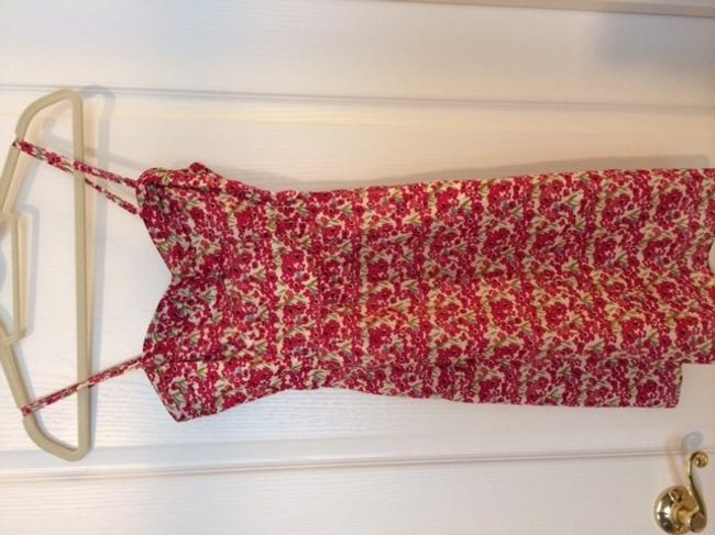 American Eagle Outfitters short dress Red floral pattern Ae on Tradesy