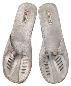 Nomad Footwear Light Blue/Gray With Silver Shimmer Flats