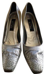 Stuart Weitzman Pewter Matte Lame Formal