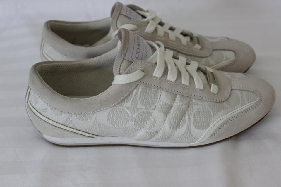 coach white athletic dillon size 8 56 coach