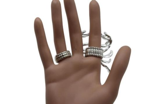 Other Women Ring Fingers Fashion Jewelry Silver Metal Big Long Scorpion Elastic Band