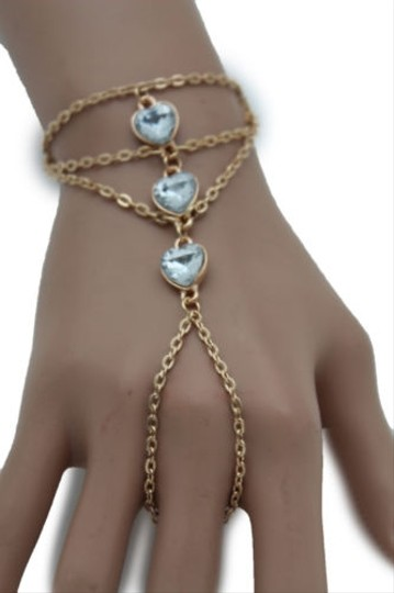 Preload https://item4.tradesy.com/images/women-gold-metal-hand-chain-fashion-bracelet-slave-ring-hearts-silver-beads-10421548-0-0.jpg?width=440&height=440