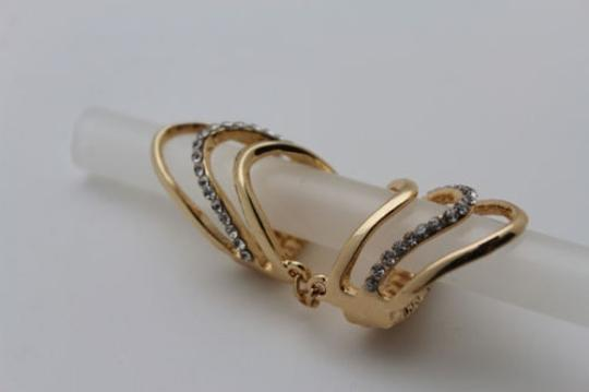 Other Women Ring Fashion Jewelry Gold Metal Long Finger Silver Beads Elastic Band