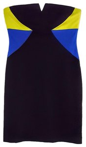 Trina Turk Strapless Sheath Color-blocking Dress