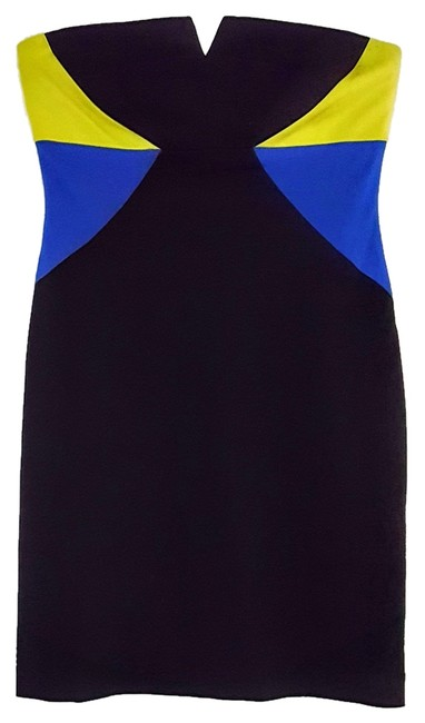 Preload https://item1.tradesy.com/images/trina-turk-black-blue-neon-strapless-color-sheath-above-knee-cocktail-dress-size-8-m-10421755-0-1.jpg?width=400&height=650