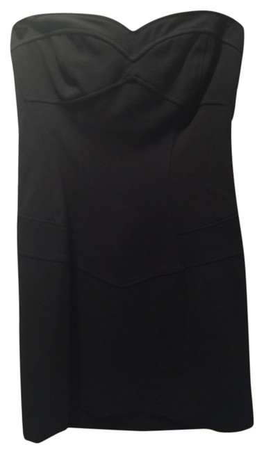Diane von Furstenberg Dvf Lbd Little Black Strapless Ribbing Mini Dress