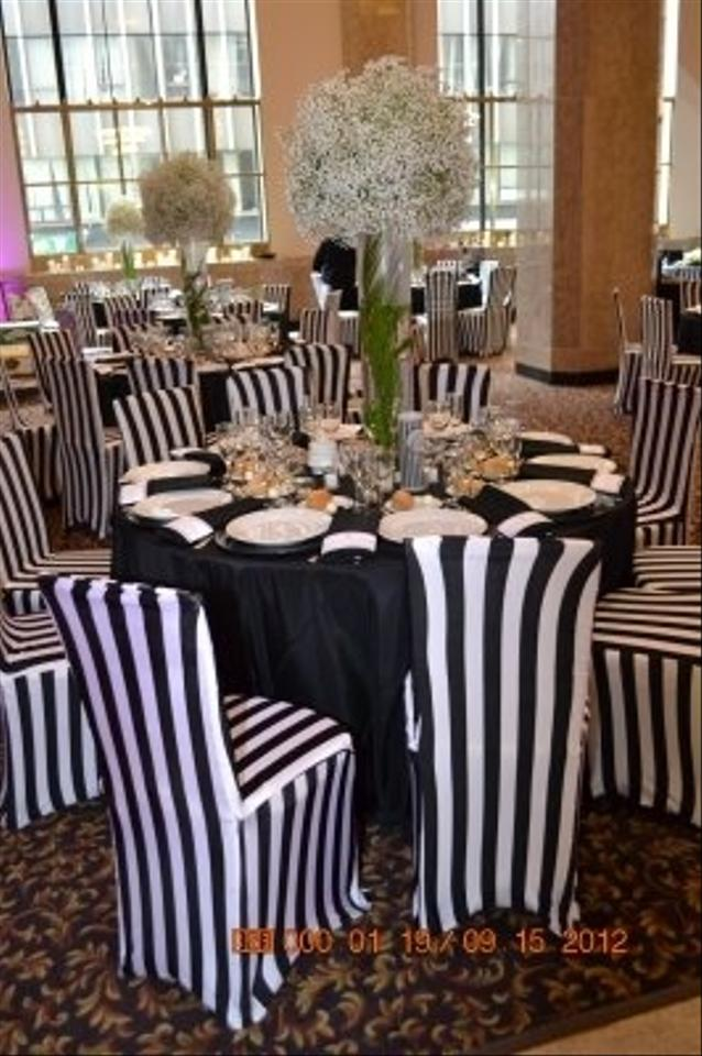 Remarkable Black Round Square Black And White Chair Covers Stripes Tablecloth Beatyapartments Chair Design Images Beatyapartmentscom