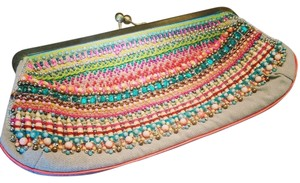 Beaded Multi-color Clutch