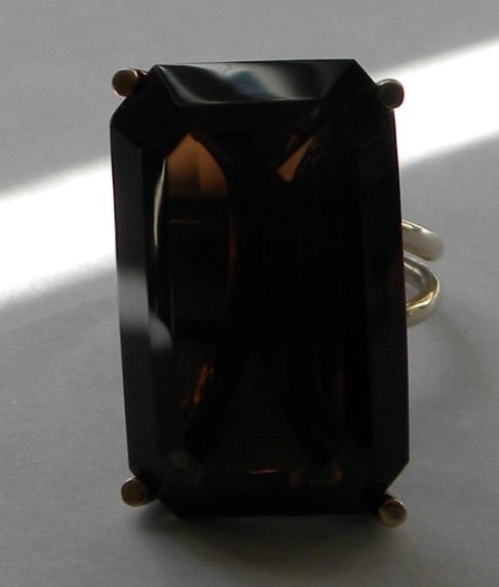 Other Huge Vintage 10K Yellow Gold Smoky Topaz Cocktail Ring Custom Made