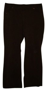 Just My Size Boot Cut Pants chocolate brown