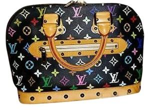 Louis Vuitton Alma Satchel in Black Noir Monogram Multicolor
