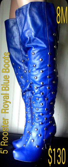 Rooster Royal Blue Boots