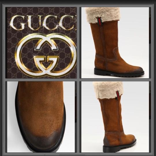 Gucci Tan and white Boots