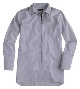 J.Crew Endless Shirt Button Down Shirt Navy Stripe