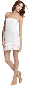 Lilly Pulitzer short dress White Franco Floral Summer Eyelet on Tradesy